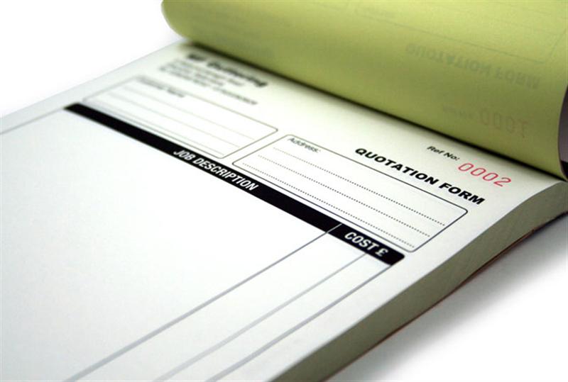 Receipt Books - Custom carbonless invoice book