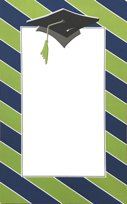 Blue and Green Thick Stripes